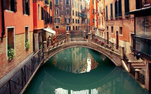 small canal Venice Italy